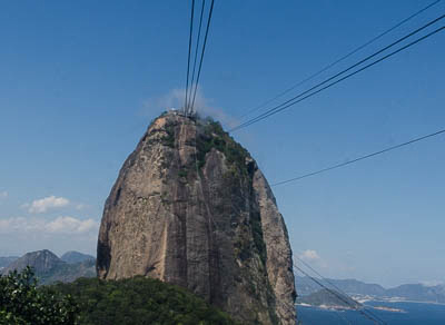 Cable car ascent to Sugar Loaf Mountain